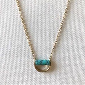 Jewelry - Dainty gold and turquoise necklace